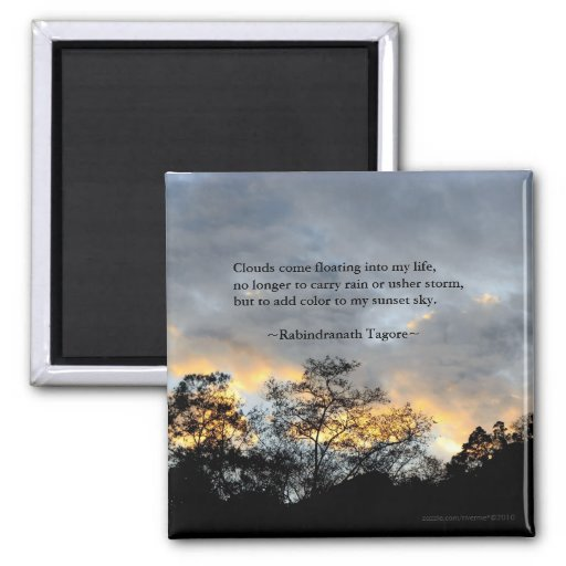 My Sunset Sky/ Tagore Quotes Magnet