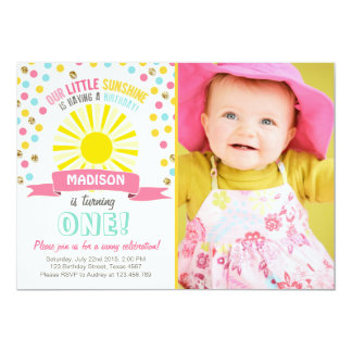 My sunshine Little sunshine birthday invitation