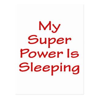 My Super Power Is Sleeping Postcard