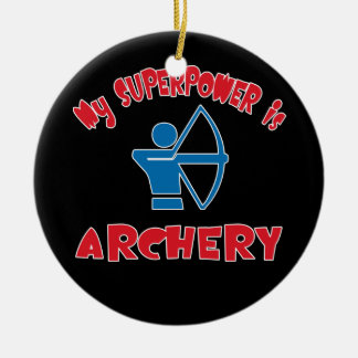 My Superpower is Archery Ceramic Ornament