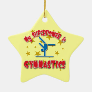 My Superpower is Gymnastics Ceramic Ornament