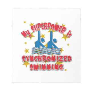 My Superpower is Synchronized Swimming Notepad