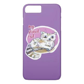 my sweet cat cartoon style illustration iPhone 8 plus/7 plus case