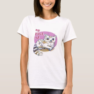 my sweet cat cartoon style illustration T-Shirt