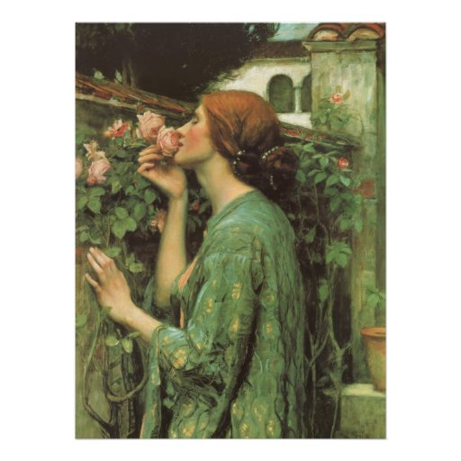 My Sweet Rose, or Soul of the Rose by Waterhouse Poster