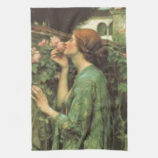 My Sweet Rose, or Soul of the Rose by Waterhouse Tea Towel