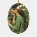 My Sweet Rose (Soul of the Rose) by Waterhouse Christmas Tree Ornament
