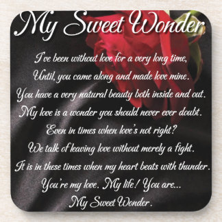 My Sweet Wonder Poetry Poster Coaster