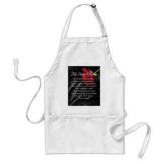 My Sweet Wonder Poetry Poster Standard Apron