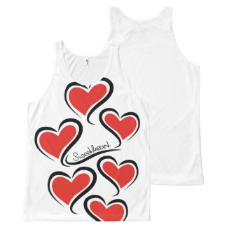 My Sweetheart Valentine All-Over Print Singlet