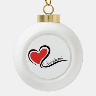 My Sweetheart Valentine Ceramic Ball Decoration