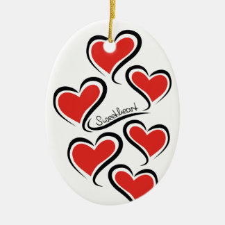 My Sweetheart Valentine Ceramic Oval Decoration