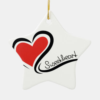 My Sweetheart Valentine Ceramic Star Decoration
