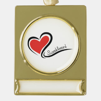 My Sweetheart Valentine Gold Plated Banner Ornament
