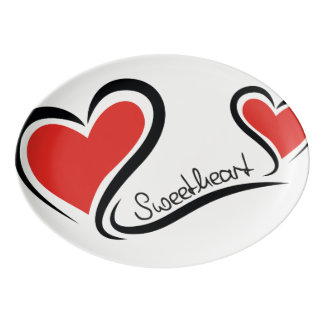 My Sweetheart Valentine Porcelain Serving Platter