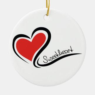 My Sweetheart Valentine Round Ceramic Decoration