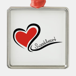 My Sweetheart Valentine Silver-Colored Square Decoration