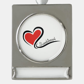 My Sweetheart Valentine Silver Plated Banner Ornament