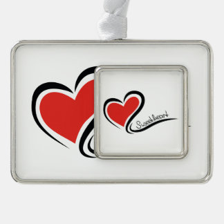 My Sweetheart Valentine Silver Plated Framed Ornament