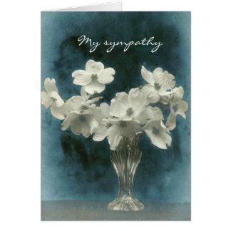 My Sympathy: Dogwood Blossoms (photo inside too) Card