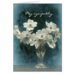 My Sympathy: Dogwood Blossoms (photo inside too) Note Card