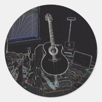 My Takamine (Sticker-Large) Round Sticker