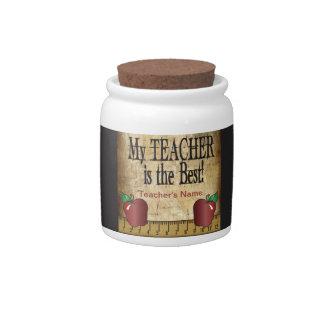 My Teacher is the Best Candy Jar