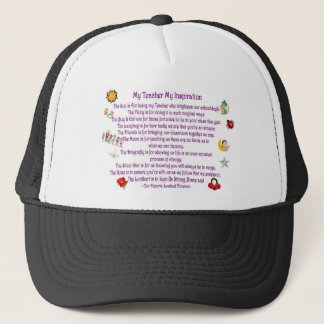 My Teacher My Inspiration Trucker Hat