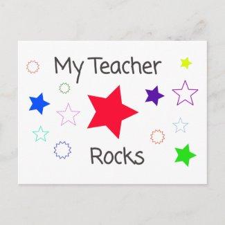 My Teacher Rocks Postcard