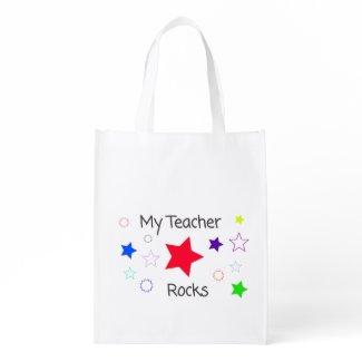 My Teacher Rocks reusable bag