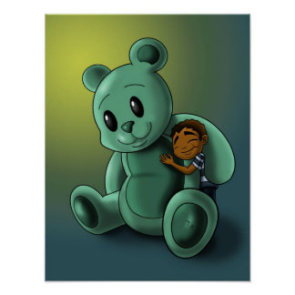 My Teddy and Me Poster Print