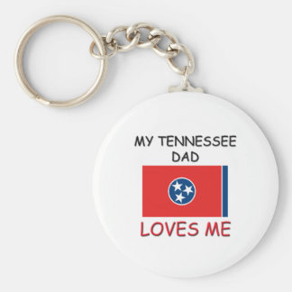 My TENNESSEE DAD Loves Me Basic Round Button Key Ring