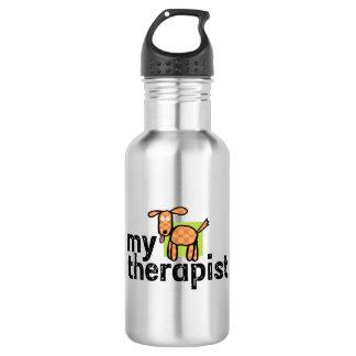 My Therapist Dog Stainless Steel Water Bottle 532 Ml Water Bottle