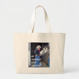 My Therapist Loves Carrots! Canvas Bags
