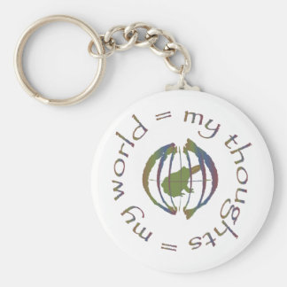 """""""My Thoughts = My World"""" Key Ring"""