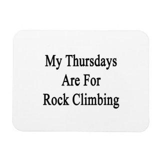My Thursdays Are For Rock Climbing Vinyl Magnet