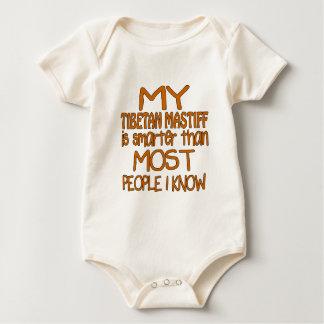 MY TIBETAN MASTIFF IS SMARTER THAN MOST PEOPLE I K BABY BODYSUIT