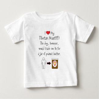 My Tibetan Mastiff Loves Peanut Butter Baby T-Shirt