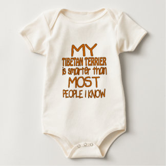MY TIBETAN TERRIER IS SMARTER THAN MOST PEOPLE I K BABY BODYSUIT