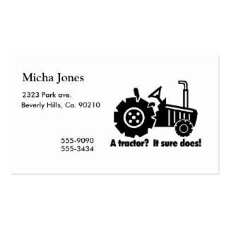 My Tractor Is A Chick Magnet Pack Of Standard Business Cards