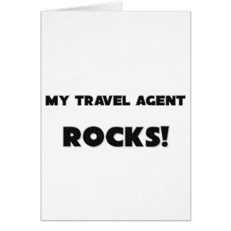 MY Travel Agent ROCKS Greeting Card