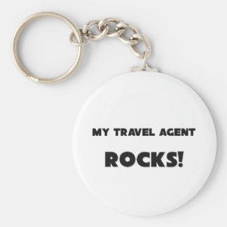 MY Travel Agent ROCKS Keychains