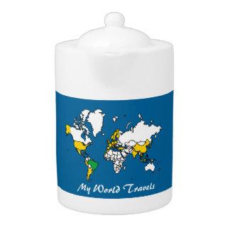 My Travels Tea Pot