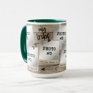 My Tribe 7-Photo Vintage Photo Frames-Wood Mug