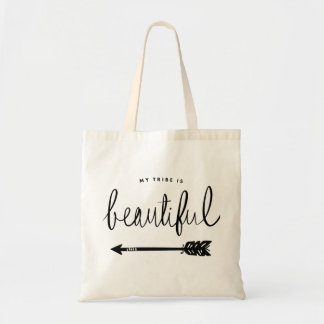 My Tribe Is Beautiful Stylish Hand-Lettered Tote Bag