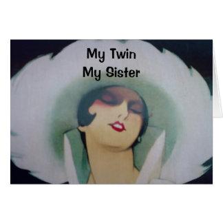 MY TWIN, MY SISTER, MY BEST FRIEND-BIRTHDAY CARD