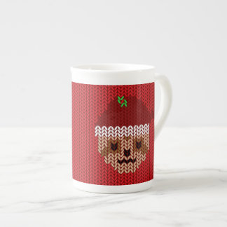 My Ugly Knitted Santa Sloth Monogrammed Mug