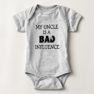My uncle is a bad influence funny nephew shirt
