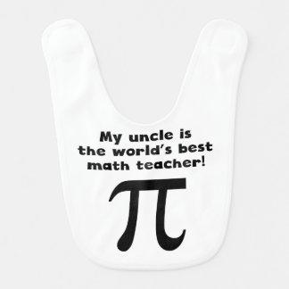 My Uncle Is The Word s Best Math Teacher Baby Bibs