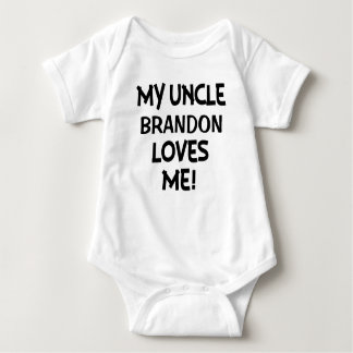 My Uncle Loves Me, Custom baby shirt